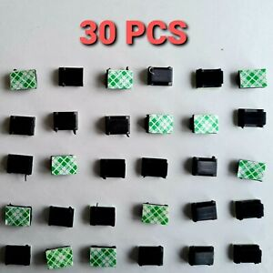 30 PCS Cable Clips Self Adhesive 3mm Clamp Holder Organizer