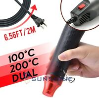 Mini Electric Hot Air Gun DIY Embossing Heat Gun Nozzles Tool Drying Paint US