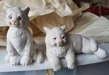 2 Dreamsicles Signed Kristin Cast Art Figurine Resting & sitting kitties