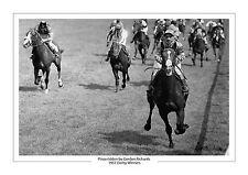 PINZA Gordon Richards 1953 Epsom Derby HORSE RACING A4 FOTO