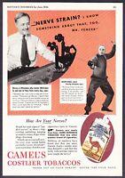 1934 Fencing Champion Joseph Vince photo Camel Cigarettes vintage print ad