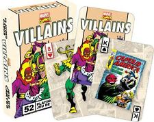 MARVEL VILLAINS RETRO - PLAYING CARD DECK - 52 CARDS NEW - COMICS 52327