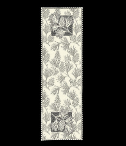 """Heritage Lace ECRU WOODLAND 14"""" x 45"""" Table Runner - Made in USA!"""