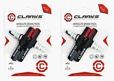2 Pairs Genuine Clarks CPS301 Elite Bike V Brake Blocks - Triple Contour Design