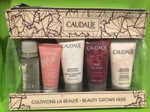 Caudalie Beauty Grows Here 5 Piece Travel Gift Set Zippered Bag - NEW