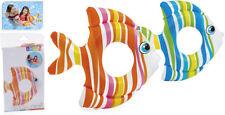 INTEX CHILDRENS INFLATABLE FISH SWIM RING SWIMMING POOL SUMMER BEACH FLOAT