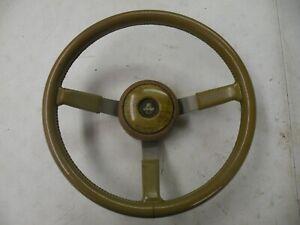 AMC Eagle Jeep Grand Wagoneer Tan Leather Steering Wheel 1970-1991 Nice 3 spoke