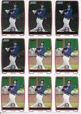 EDDIE ROSARIO 2012 BOWMAN #BP9 & BOWMAN CHROME #BCP9  (9) CARD LOT SEE LIST