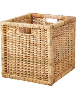 Ikea Branas Storage Basket Rattan 001.384.32 Fits Kallax And Expedit NEW!