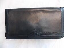 Vintage Black leather Business style Clutch
