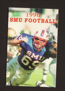 Southern Methodist Mustangs--1996 Football Schedule--Dr Pepper