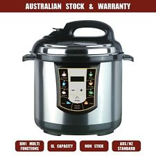 New Advanced 6L Electric Pressure Cooker Stainless Steel Multi Function 1000W