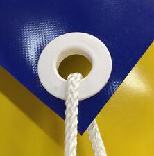 10 Stück Kunststoff-Ösen, weiß, Durchmesser 20mm, Planen-Öse, Lochverstärkung