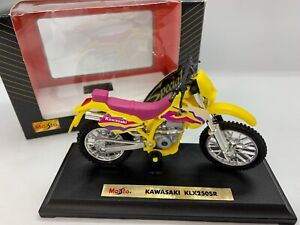 "Maisto 1997 Kawasaki KLX250SR Special Edition 1/18"" Die Cast Metal LOOK! MIB"