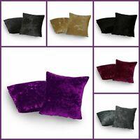 2 x Italian Luxury Crushed Velvet Cushion Covers - 4 Size