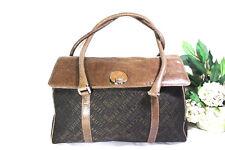 Vintage CERRUTI 1881 Canvas Leather Duffle Doctor Travel Bag Shoulder Bag
