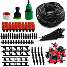 DIY Micro Drip Irrigation System Plant Watering 15M Hose Tube Dripper Nozzle Kit