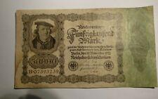 GERMANY CURRENCY 1922 50,000 MARK BANKNOTE REICHSBANKNOTE rjkstamps