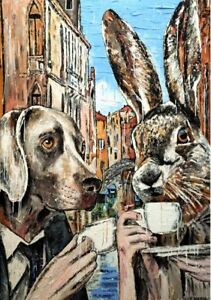 GILLIE AND MARC. Direct from the artists. Authentic Art Print 'Coffee' 'Travel'