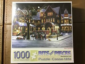 Brand New Christmas The Carolers Bits and Pieces 1000 pcs Puzzle Winter Scene