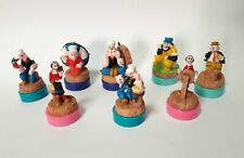 Popeye Complete Set 8 Resin Figurine Rubber Stamps Globo