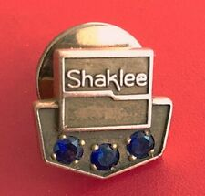 Vintage Employee Service Award 10K Gold Pin Badge: SHAKLEE PRODUCTS; 3 Sapphires