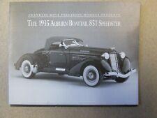 Franklin Mint Paperwork 1935 Auburn Boattail 851 Speedster