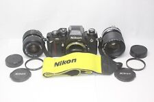 AS IS Nikon F3 SLR 35mm Film Camera Body Nikkor 35-70mm F3.5-4.8 35-105mm Lens