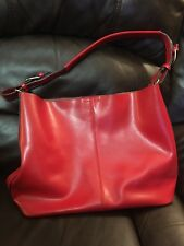 Co Lab COLAB Christopher Kon 100% Leather Handbag Tote Bag  Red Large