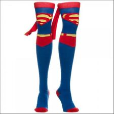 DC Comics Superman Caped Boot Knee Thigh High Socks Adult Women Superhero