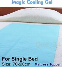Single Bed Magic Cooling Gel Blue Cool Pad Mat Orthopedic Mattress Topper Large
