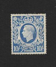 GB Great Britain 1949 10s blue MNG mint no gum