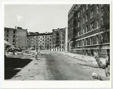 BOY FLYING KYTE BURNT NEAR OUT BUILDINGS ORIGINAL VINTAGE 8X10 BW PHOTO