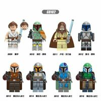 New Star Wars Figures Rey Luke Skywalker Mandalorian Warrior Jango Fett Mech