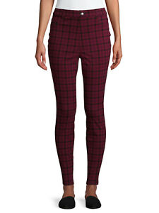 NEW WOMENS TIME & TRU PULL ON HIGH-RISE FITTED JEGGINGS BUY MORE SAVE MORE $$$