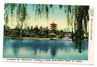 Japan - Pagoda of Kofukuji Tempel from Sarusawa Teich at NARA (H7765)