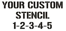 Custom cut 12x24 stencil (your design, must be stencil ready)