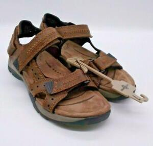 Earth Spirit Mens Brown Gelron Cushion Adjustable Strap Comfort Sandals Size 7