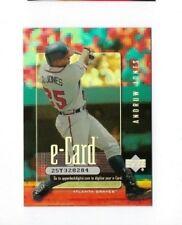 2001 ANDRUW JONES UPPER DECK E-CARD #E1 BASEBALL INSERT CARD NRMT UD E ECARD