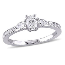 Amour 3/5 CT TW 3-Stone Diamond Engagement Ring in 14k White Gold