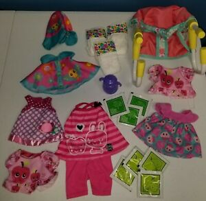 Hasbro Baby Alive Accessory Lot Diapers Dresses Clothes Food Chair s8
