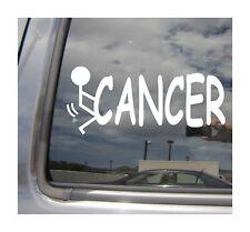 F*** CANCER Survivor Fight Family Breast Car Window Vinyl Decal Sticker 02070