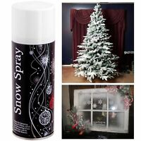 Fake Snow White Spray Paint Xmas Craft Stencil Festive Fun Christmas Decoration