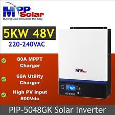 (GK) 5000w 5kva 48v Solar inverter 230v + 80A mppt solar charger, high PV 500vdc