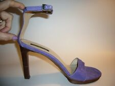 DKNY  Women's size 9 Ankle Strap High Heel Genuine Lavender purple Suede Shoes