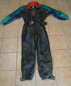 Descente Men's Large USA Ski Suit Snowsuit Black 1pc Snow Pant Jacket Skiwear