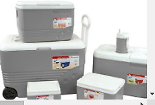 More details for ice chest with wheels 6 piece set grey outdoors