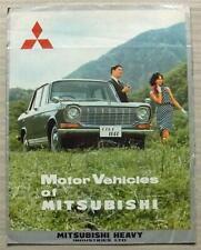 MITSUBISHI MOTOR VEHICLES Sales Brochure English/French Text CARS Trucks VANS +