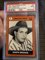 1991 Oklahoma State #87 Garth Brooks PSA 9 Rookie card Low pop w only 2 higher!