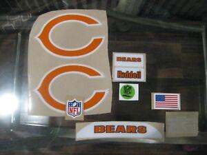 Chicago Bears football helmets 3M vinyl decals